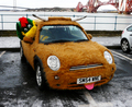 Hamish the Scottish MINI - MINI-dressed-as-a-Highland-Cow - mini-cooper photo
