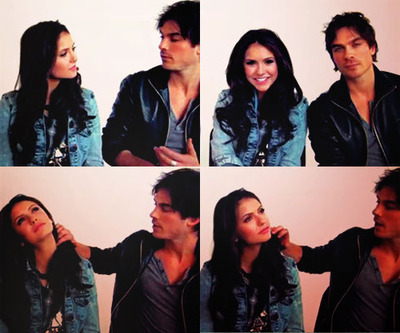 Ian Somerhalder and Nina Dobrev wallpaper called Ian & Nina