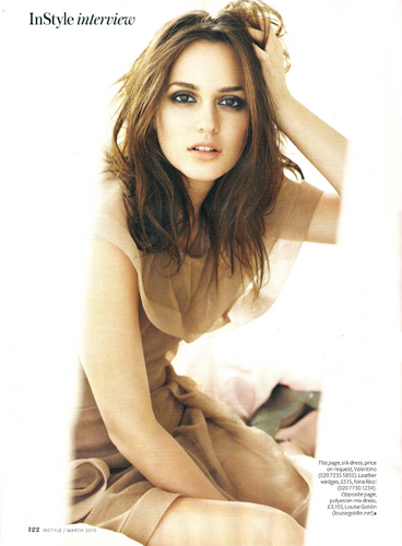 Instyle UK March 2010 : Leighton Meester [Magazine scan HQ]