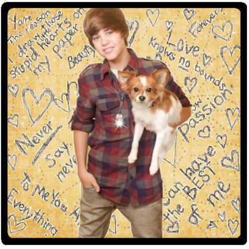J.Bieber with dog
