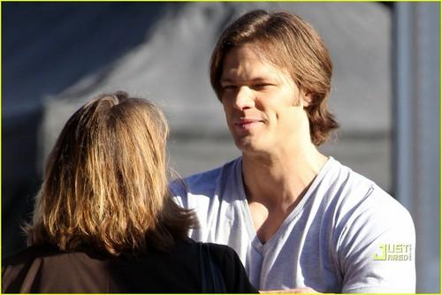 Jared on set SPN