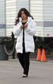 Jenna Ushkowitz On Set - January 29th - glee photo