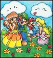 Mario Picnic Day - luigi-and-daisy fan art