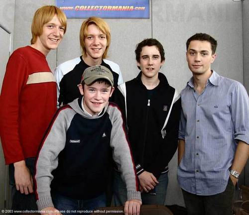 Oliver & James Phelps, Devon Murray, Matthew Lewis, and Christian Coulson