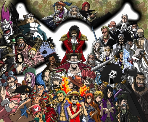 One Piece achtergrond entitled One Piece All Characters