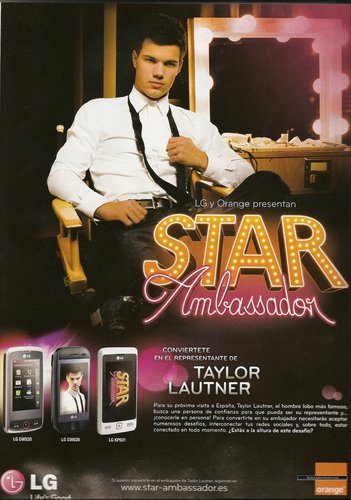 Picture of Taylor as LG & Orange's ster Ambassador