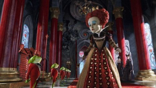 Alice in Wonderland (2010) kertas dinding titled Queen of Hearts