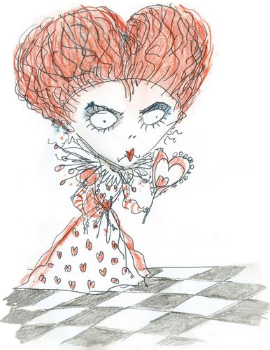 Alice in Wonderland (2010) wallpaper entitled Red Queen Concept Art - Tim Burton