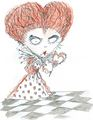Red reyna Concept Art - Tim burton