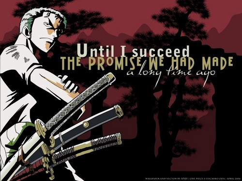 One Piece - All'arrembaggio! wallpaper entitled Roronoa Zoro - The Promise