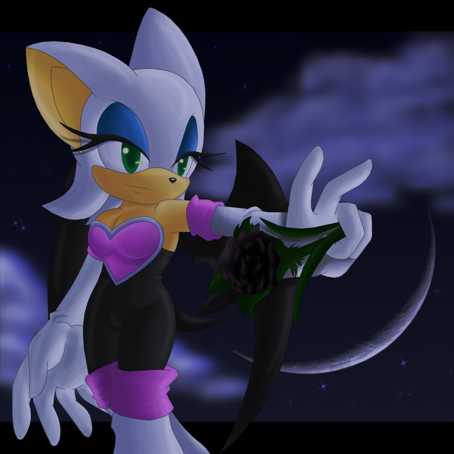 Rouge with a black rose