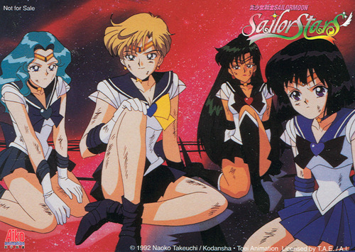 Sailor Moon Sailor Stars karatasi la kupamba ukuta entitled Sailor Stars