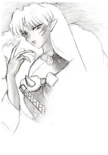 Sesshomaru wallpaper entitled sesshomaru pencil sketch