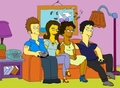 Simpsons - TVD - the-vampire-diaries-couples fan art