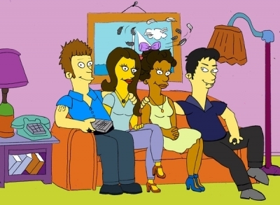 The Vampire Diaries Couples 壁纸 called Simpsons - TVD