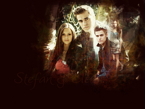 Stefan & Elena - stefan-salvatore-and-elena-gilbert Wallpaper