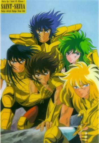 The five wearing their Cloths shining as oro