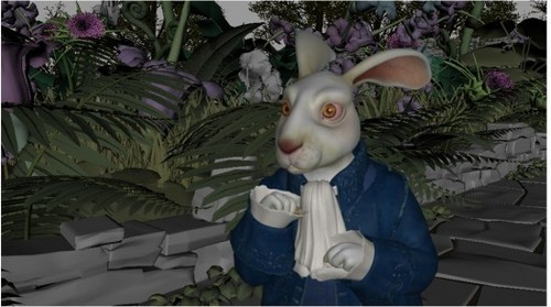 The process which the white rabbit is made
