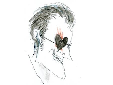 Alice au Pays des Merveilles (2010) fond d'écran entitled Tim Burtons Original Sketch Of the knave of hearts