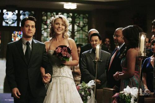 Grey's Anatomy Couples پیپر وال titled alex/izzies wedding