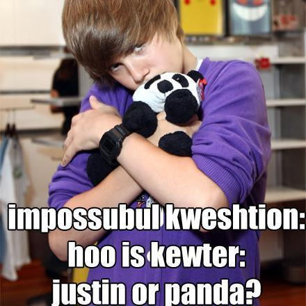 justin bieber older. Justin-ieber-and-a-cute-panda