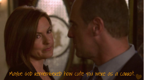 Elliot and Olivia wallpaper titled maybe god remembered how cute you were as a carrot!