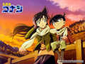 ran and conan - detective-conan wallpaper