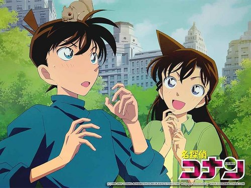 Detective Conan images shinichi and ran <3 HD wallpaper and background photos