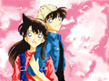 shinichi and ran &lt;3 - detective-conan wallpaper