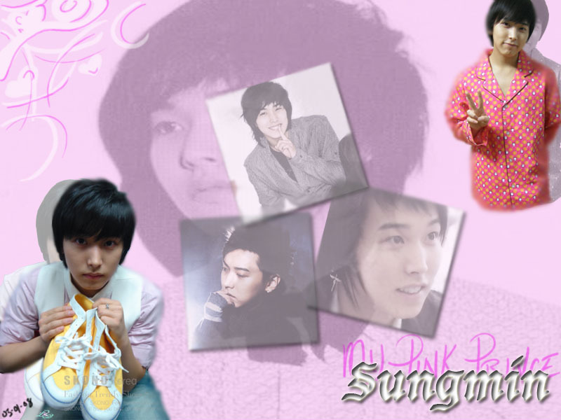 wallpaper cute pink. sungmin wall paper.. cute in