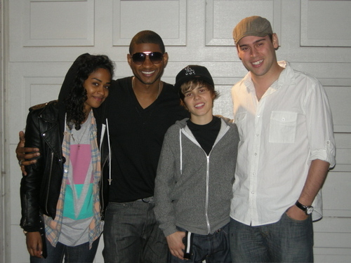 usher and justin:>