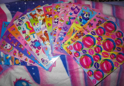 Lisa Frank wallpaper entitled 90's Stickers with her original characters