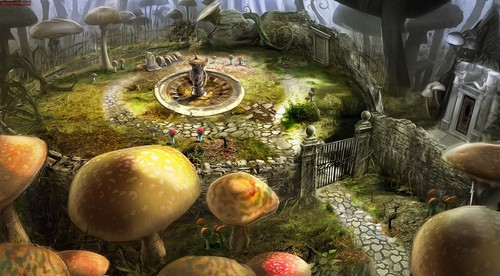 Alice im Wunderland (2010) Hintergrund entitled Alice in Wonderland Game concept Art