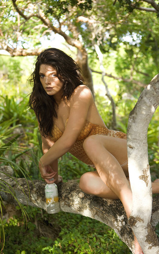 Ashley Greene Bodypaint pics for SoBe and Sports Illustrated