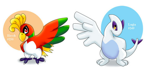 Baby lugia and ho-oh