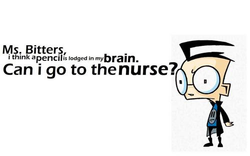 "Invader Zim kertas dinding called ""Can I Go To The Nurse?"""