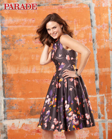 Emily Deschanel photos in Parade magazine