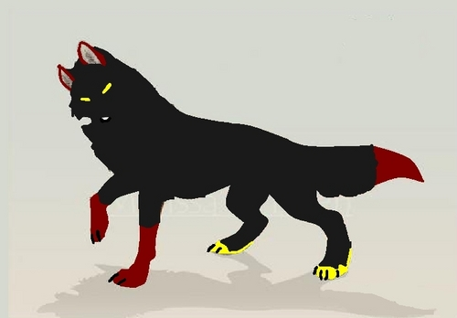 anime animal achtergrond entitled Eva wolf