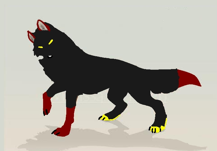 Anime animal eva wolf