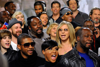 """Events > 2010 > February 1st - """"We Are The World"""" 25 Years For Haiti Recording Session"""