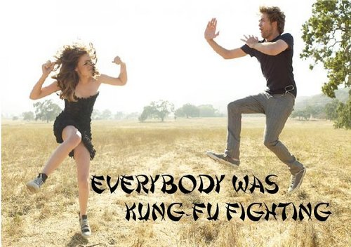 Everybody was kung fu fighting! :-D