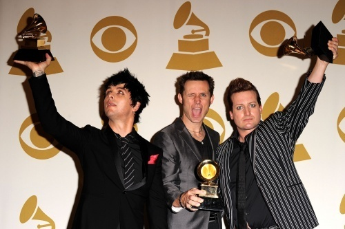 Green hari After Winning 'Best Rock Album' @ the 2010 Grammy Awards