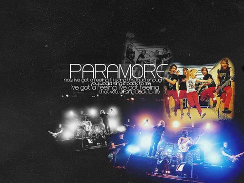 paramore fondo de pantalla called I've got a feeling that tu would sing it back to me.