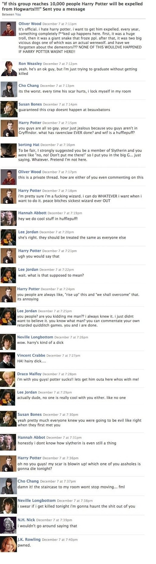 If Only There Was facebook at Hogwarts