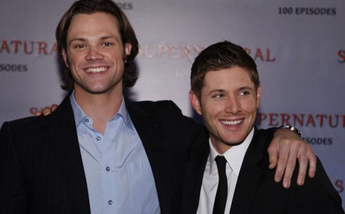 Jared and Jensen at the 100th episoode party