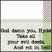Jekyll & Hyde Quote Icons - jekyll-and-hyde icon