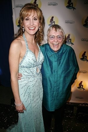 Jodi Benson and Pat Carroll voices of Ariel and Ursula at the Broadway premiere