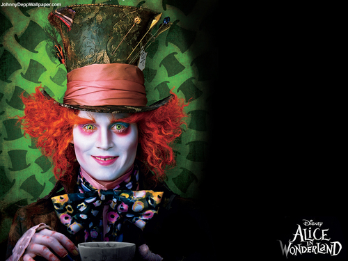 Alice in Wonderland (2010) wallpaper called Johnny Depp Wallpaper - alice in wonderland wallpaper