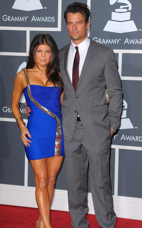 Josh Duhamel and Fergie at the Grammy's