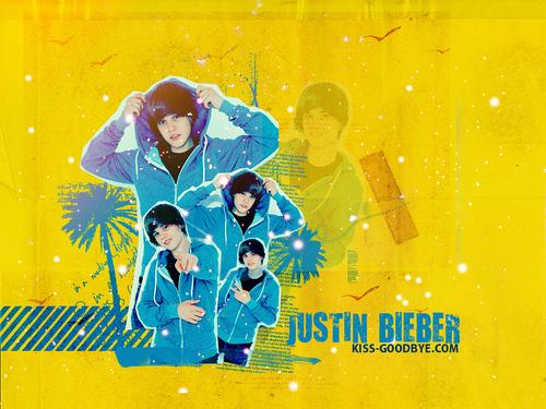 Justin Bieber karatasi za kupamba ukuta